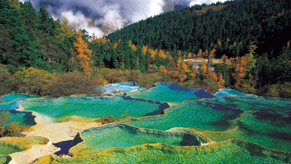 Huanglong Sichuan National Park China