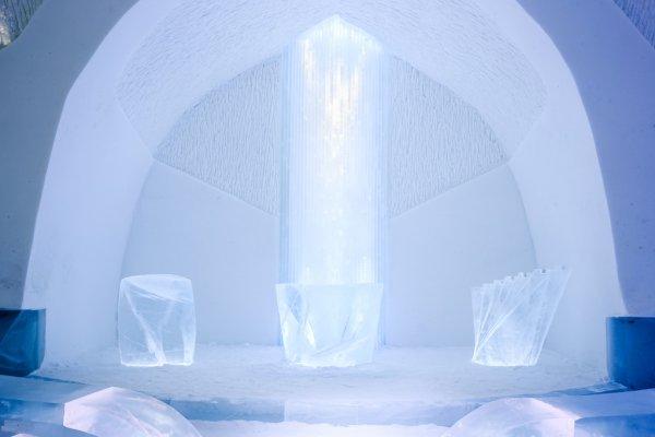 ice church kakslauttanen finland