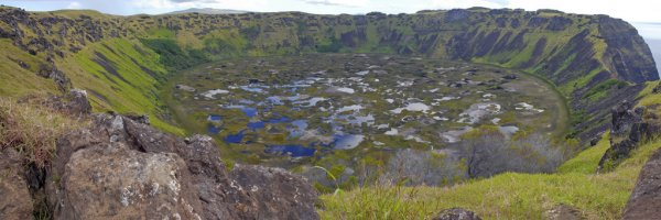 Volcano crater Easter Island