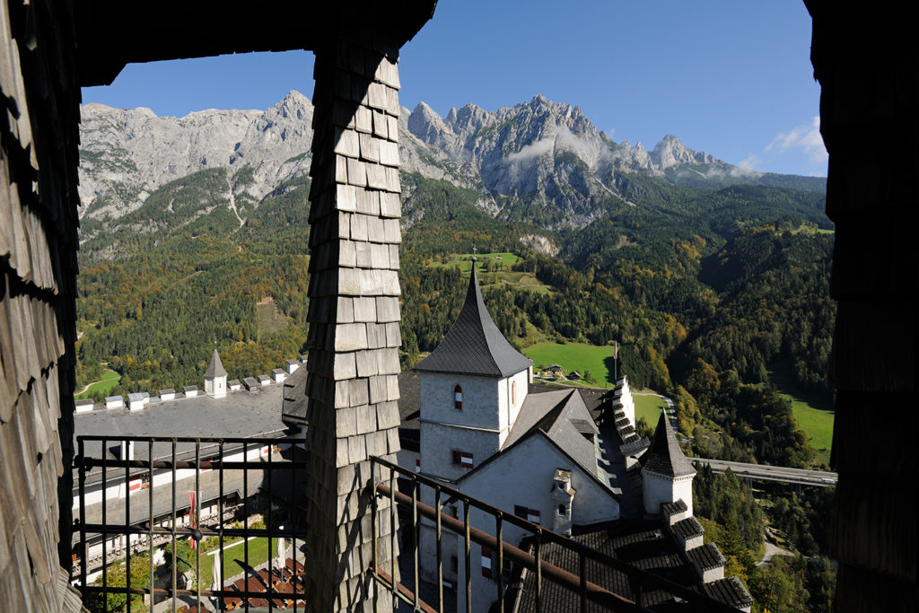 mountain view hohenwerfen bell tower